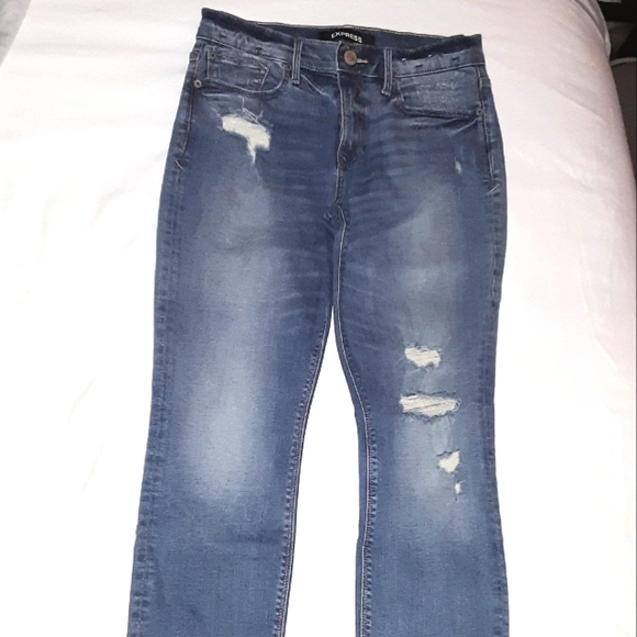 Express Skinny Mid Rise Jeans 4 Short